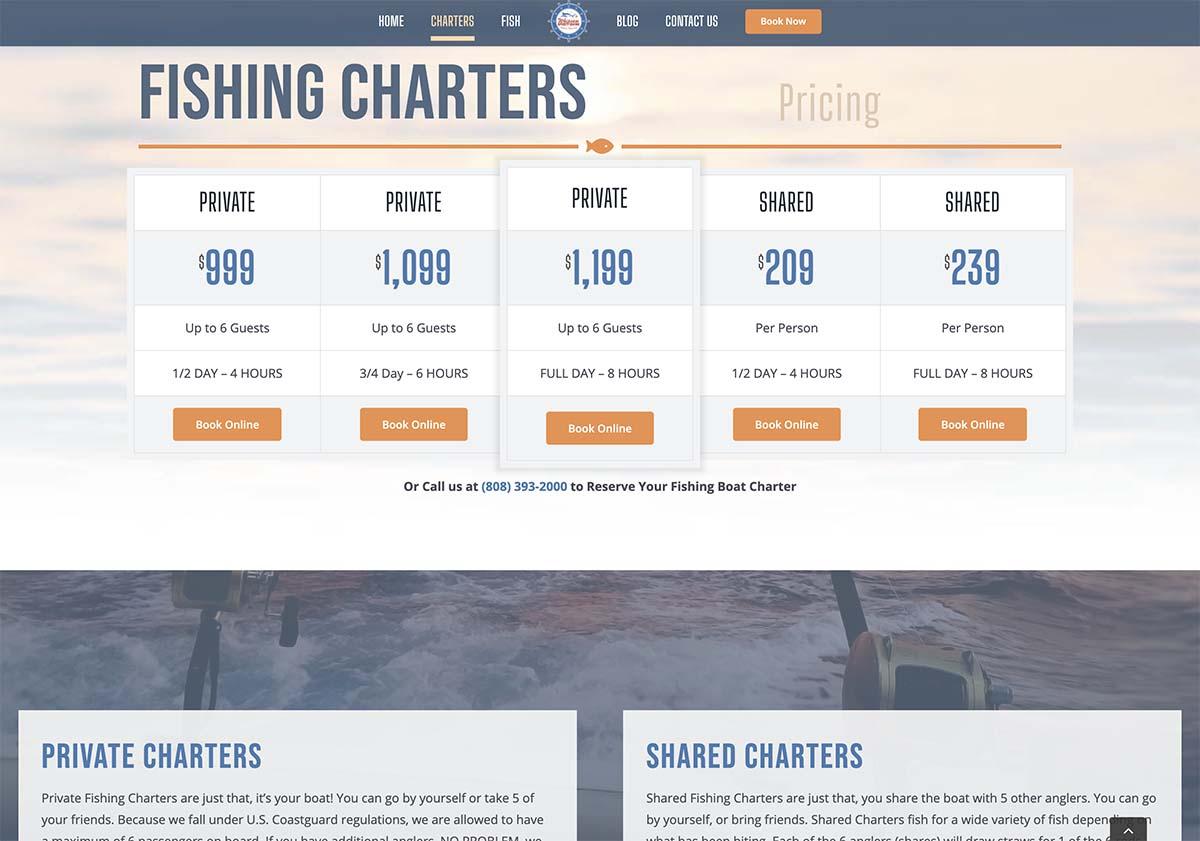 Whipsaw Sportfishing Web Design